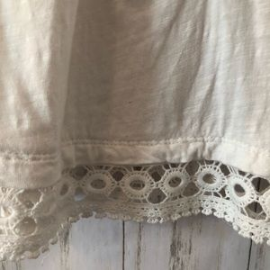 Anthropologie Tops - Anthropologie Meadow Rue Mantra Lace Tee White SM